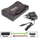 AMANKA Scart auf HDMI Konverter Video Audio Wandler 1080P HD Adapter für HDTV STB VHS Xbox PS3 Sky DVD Blu-ray usw