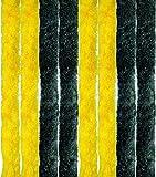 Tenda in pile, Unistreifen schwarz - gelb, 90 x 220 cm