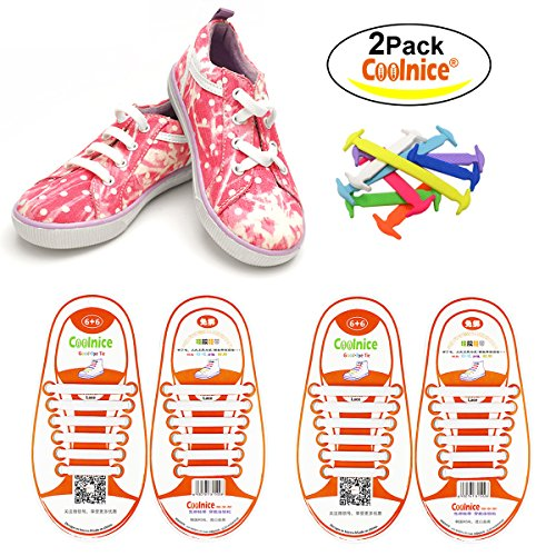 COOLNICE No Tie Flat Shoelaces for Kids, Men &...