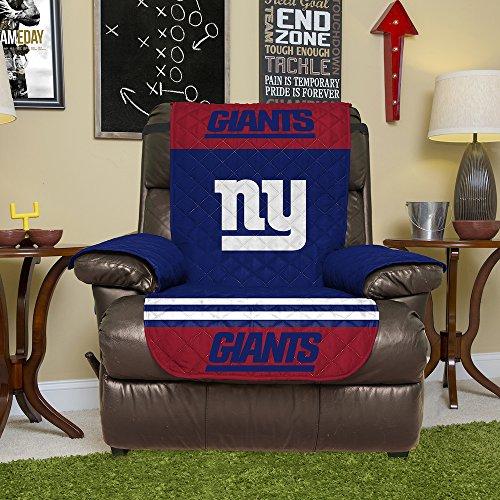 NFL New York Giants Rückenlehnenschutz, wendbar, mit elastischen Riemen, 203,2 x 162,9 cm -