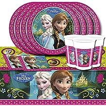 Disney Frozen Frozen de fiesta de 52piezas Vajilla Fiesta de cumpleaños infantil