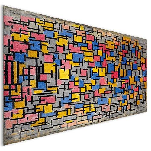 Farbige Quadrate abstrakte Acryl Glas Wand Kunst - XL 140cm x 70cm