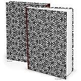XXL schwarz weißes ORIENT Muster Notizbuch DIN A4 Muster mit 164 leeren weißen Seiten - Tagebuch Einschreibbuch Blankobuch - Buch blanko zum selbstgestalten HARDCOVER !!!