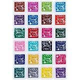 Faburo 24 colores almohadilla tinta para para sello tampón,Niños No Tóxico