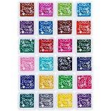 Faburo 24 Farben Stempelkissen Set, Tinte Pads Stempel ,Stamp Pad Fingerdruck für Papier Handwerk Stoff, Fingerabdruck ,Scrapbook, Malerei