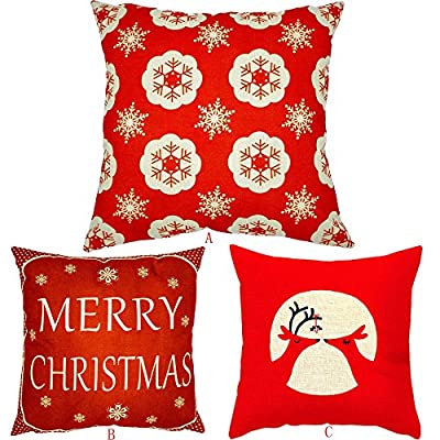 FEITONG Xmas Christmas Sofa Bed Home Decoration Festival Pillow Case Cushion Cover - low-cost UK light store.