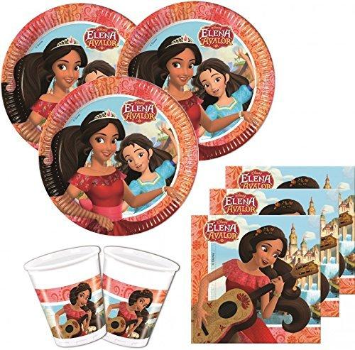 36 Teile Disney Elena Avalor Einweg Partygeschirr Party Set (Disney Planes Kunststoff Tischdecke)