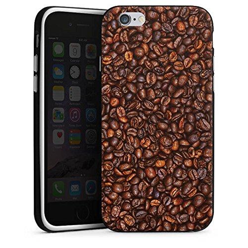 Apple iPhone 4 Housse Étui Silicone Coque Protection Café Haricots Café Housse en silicone noir / blanc