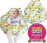 Unique 4in 1Premium Cotone Cuscino da allattamento con Free Mini Cuscino e Baby Harness