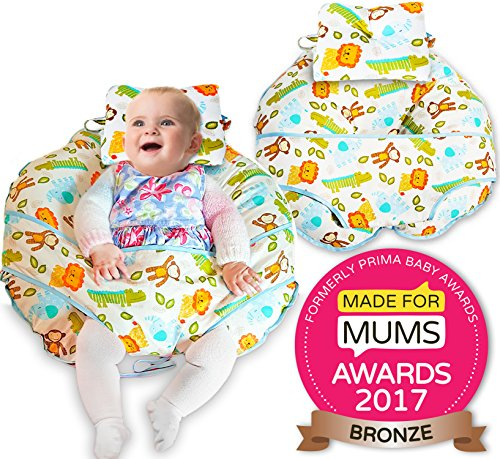 unique-4-in-1-premium-cotone-cuscino-da-allattamento-con-free-mini-cuscino-e-baby-harness