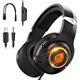 Znines Cuffie Gaming per PS4, PS5, Xbox One, Nintendo Switch, PC, Mac, Laptop, 3.5mm Over Ear Gaming Cuffie con microfono e l