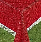 Schwar Textilien Gartentischdecke Tischdecke Weichschaummaterial Rutschfest Wetterfest 4 Farben Aktionspreis 5,99 Rustikal (130cm Rund, Rot)
