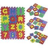 baby 36 Stück Kind Anzahl Alphabet EVA Puzzle Schaumstoffmatten pädagogisches Spielzeug Geschenk