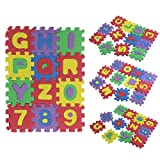 VovotradeTapis De Puzzle 36pcs Bébé Numéro de l'alphabet Puzzle Mousse Maths Jouet éducatif Cadeau Puzzle en Mousse Mat Puzzle Lettre numérique Jouet Éducatif Kids Toys Tapis de Puzzle Bébés