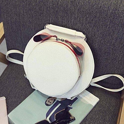Borse Donna , feiXIANG 2017 Donne fionda cappello spalla borse di personalità creativa crossbody bag 5 colori (rosa) bianco