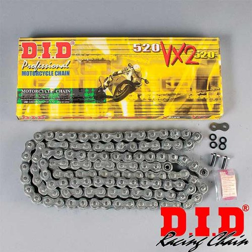 Open Birthday 112/links with Clip Lock DID chain 520/VX2/X-Ring