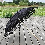 damai-shop Crafts Spitze Sonnenschirm Regenschirm Hochzeit Fotografie Requisiten Tanz Regenschirm EuropäIschen Und Amerikanischen Ozean Regenschirm Schwarz, Black, 68*48