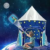 iBellete Verträumter Blauer Himmel-Spielzelt Kinderzelt Spielhaus Zelt Kinderschloss Burg mit 1 Tür und 2 Fenstern