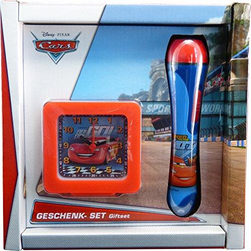 Technoline Cars Set RSN 2 Kinder Wecker + Taschenlampe (Disney Cars-uhren Für Jungen)