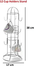 Bridge2Shopping Stainless Steel Cup Stand ,12 Holders