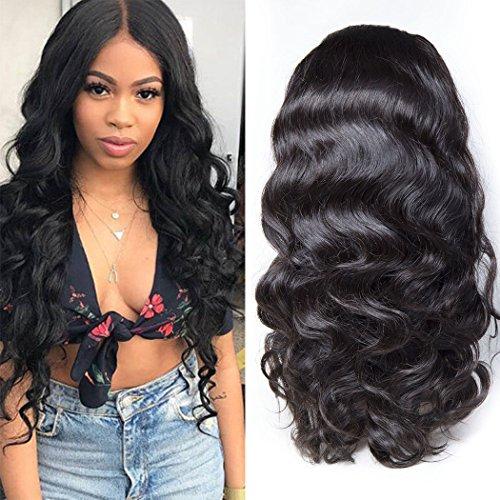 Maxine 360 Dentelle frontale Perruque avec cheveux de bébé Body Wave brésiliens vierges Cheveux 100% non transformés Cheveux humains des Perruques pour femme noire
