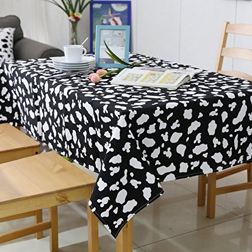 Tabgw Nappe rectangulaire salle à manger jardin hotel restaurant café table tissu couvercle simple style Black 90x140cm Accessoires pour la maison