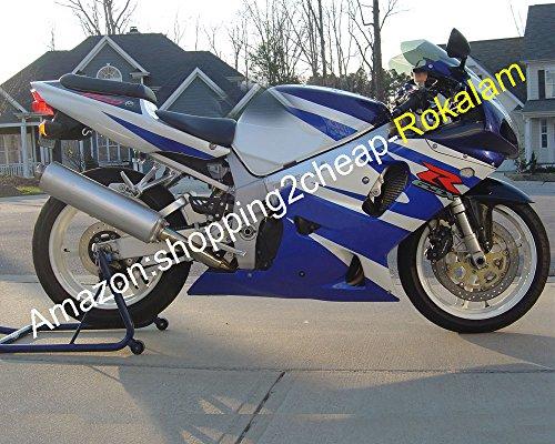 Hot Sales, moto Carénages K1 01 02 03 GSXR 600 750 GSX R600 R750 2001 2002 2003 Bleu Blanc Moulage par injection Carénage kit (Moto)