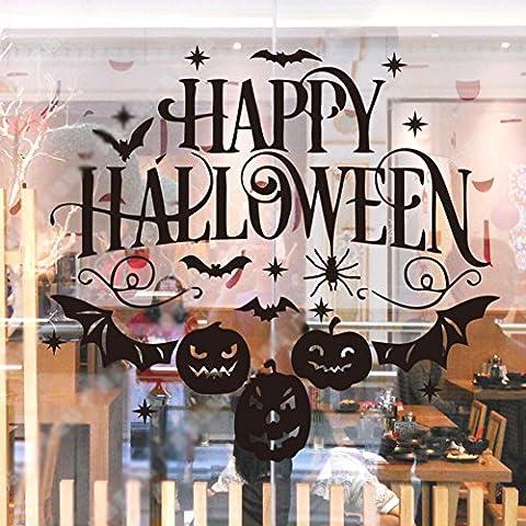 Autocollants halloween habiller fenêtre/ bar/pub, restaurant,autocollant mural de barre de café/stickers vitrine-A