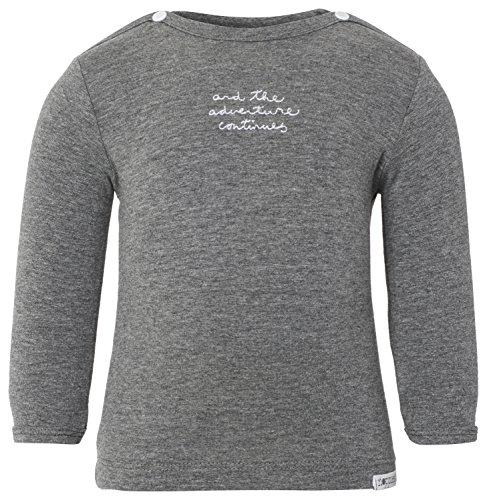 Noppies Unisex Baby T-Shirt U Tee ls Puck Text, mit Print, Gr. 56, Grau (Anthracite Melange C247)