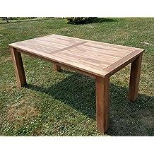 Wuchtiger TEAK BIGFOOT Gartentisch 180x90 Holztisch Teaktisch Garten Tisch  Holz Von AS S