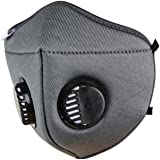 i95 airmask with Breathing Valve Pack of 1 Grey 6-Layer Melt blown Fabric Air Filter Skin Fit Washable Reusable Anti…
