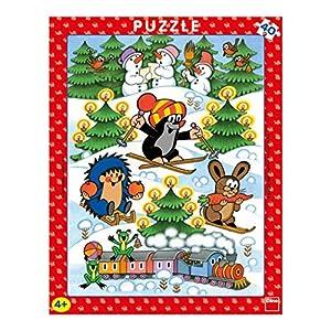 Dino Toys 322134 Little Mole - Puzzle con Marco, diseño de pajitas de Escritorio