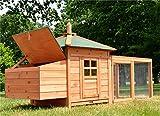Zooprimus Pollaio in legno bella grande accogliente e pratica gabbia da esterno per polli galline e adattabile a qualsiasi altra esigenza per i vostri animali da fattoria 130 Oreo