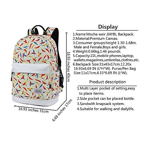 Moka Weir Jiaybl Laptop Bags Spalle Bambini Sacchetti Di Scuola Zaino College Girl Tela Viaggio Viaggi (londra Big Ben 02) Giallo Piccolo Pepe