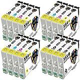 Pictech Kompatible Tintenpatronen Ersatz für Epson T0555 - T0551 T0552 T0553 T0554 Tintenpatronen für Epson Stylus Photo RX420 RX425 RX520 R240 R245 RX450 Drucker