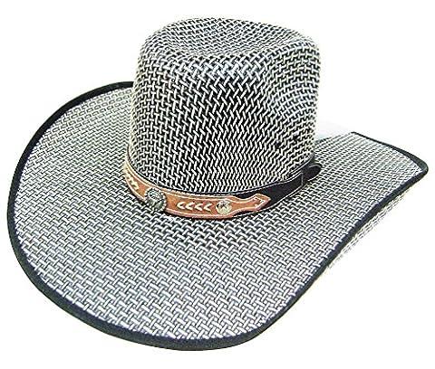 Modestone Taditional Bangora Rodeo Breezer Straw Chapeaux Cowboy Grey