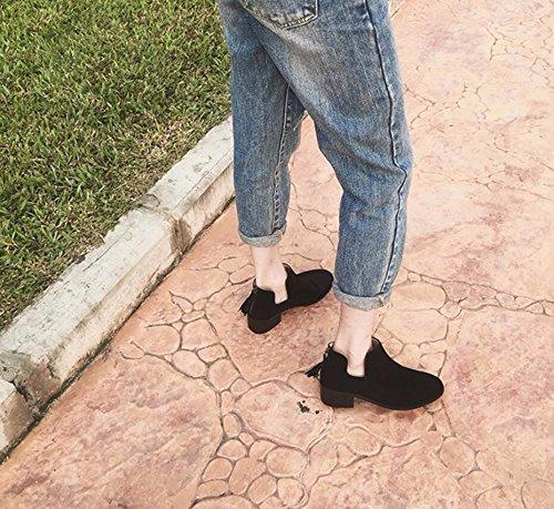 Ronde Martin 39 Et Bottes Femmes Nue Bottes Zipper Et Femme Su KHSKX Bold Boots Noire Tête Chaussures U RfTTU5W