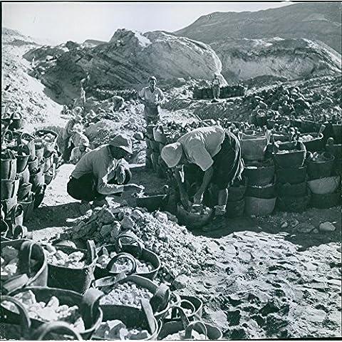 Vintage Foto dei lavoratori raccolta Rocks at the Coaline. - Guida Immigrati