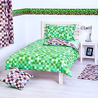 Pixels Collection Accessories and Bedding Bedroom Décor, Available in 4 Colours and a Variety of Products - cheap UK light shop.