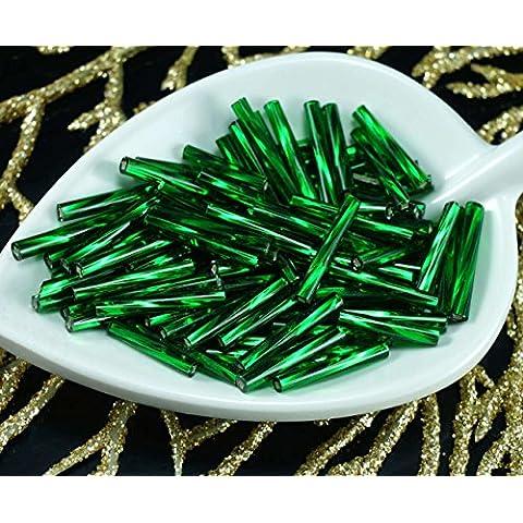 100pcs x 15mm Extra Lungo Verde Smeraldo