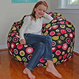 #10: Style Crome Multi Colored Polka Dot HD Printed Bean Bags Without Beans - Size : Xxxl