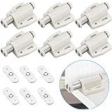 KBNIAN 6 stuks magnetische drukdeuropeners magneetsnapper veersnapper deursluiter magneetslot voor boekenkasten, keukenkasten