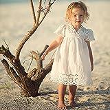 Mädchen Sommer weißes Rock Kleid - Baby Engel Stil Hohle Kleider für Kleinkinder Kinder 2-7 Jahre alt - von Juleya / 3-4 Jahre