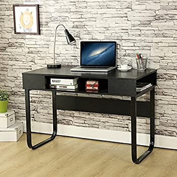 ebs simple style office desk computer pc home desk workstation kids study table black 110 x 55 x 75