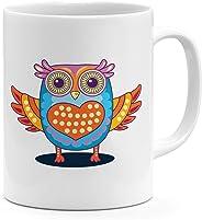 11oz Coffee Mug-Lovely Cute Owl Heart Mugs For Couples Loud Universe