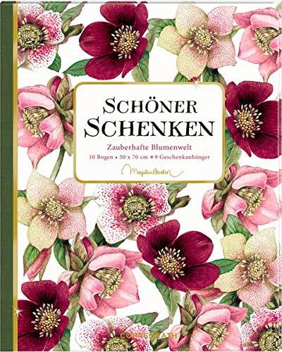 Geschenkpapier-Buch - Schöner schenken (M. Bastin): Zauberhafte Blumenwelt