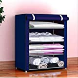 COROID Collapsible Wardrobe Organizer, Storage Rack for Kids and Women, Clothes Cabinet, Bedroom Organiser Tower with…