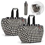 reisenthel easyshoppingbag 2tlg. Einkaufstasche Einkaufsbeutel shoppingbag easybag (Fifties Black)