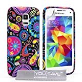 Yousave Accessories Coque Samsung Galaxy Young Etui Noir/Couleur MultiSilicone GelMéduse Housse