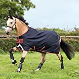 Amigo Bravo 12 Medium 250G Turnout Rug 7ft3 Dark Navy Red Orange